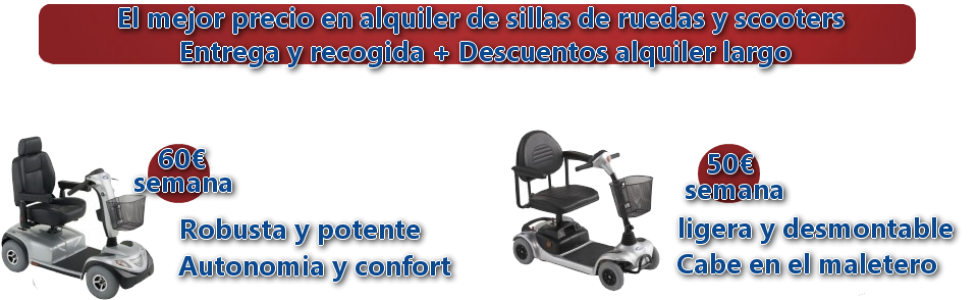 Alquiler scooters electricos